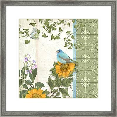 Les Magnifiques Fleurs Iv - Secret Garden Framed Print by Audrey Jeanne Roberts