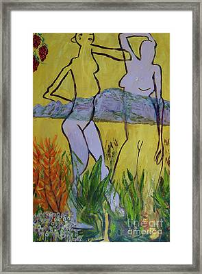 Framed Print featuring the painting Les Nymphs D'aureille by Paul McKey