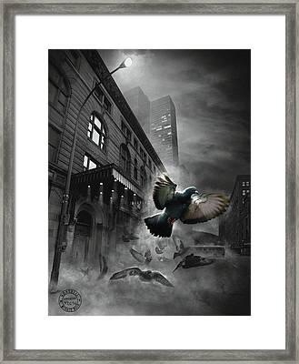 Les Oiseaux Framed Print by Mirage Noir