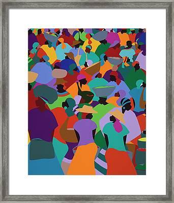 Les Palmes Market Haiti Framed Print