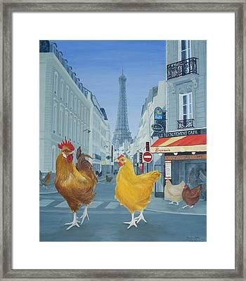 Les Parisiens Framed Print