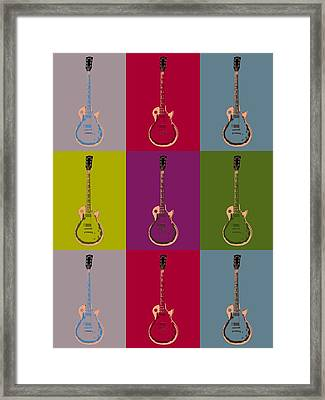 Les Paul Colorful Poster Framed Print by Dan Sproul