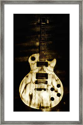 Les Paul Guitar Framed Print by Bill Cannon