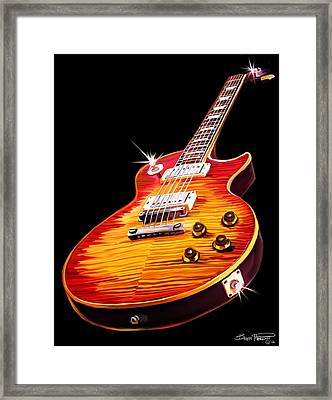 Les Paul Guitar Framed Print