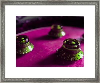 Guitar Controls Series Pink And Green Framed Print