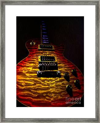 Framed Print featuring the digital art Guitar Custom Quilt Top Spotlight Series by Guitar Wacky