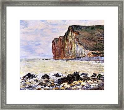 Les Petites Dalles Framed Print by Claude Monet