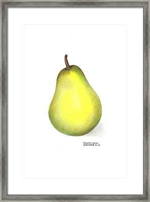 Les Poires Framed Print by Sharon Blanchard