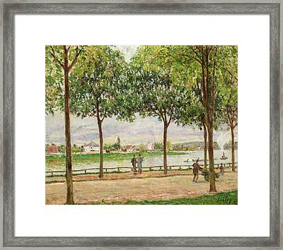 Les Promenade Des Marronniers Framed Print by Alfred Sisley