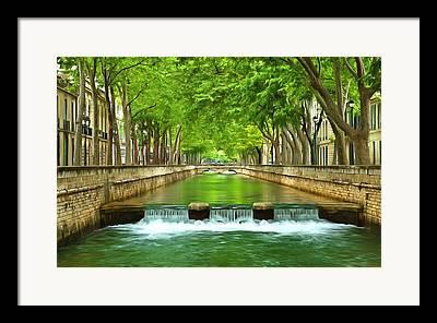 Southern France Mixed Media Framed Prints