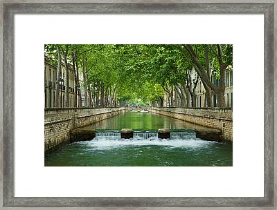 Les Quais De La Fontaine Framed Print by Scott Carruthers