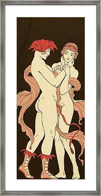 Les Remords Framed Print by Georges Barbier