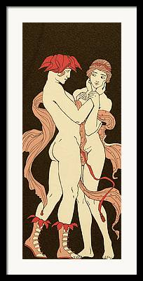 Sexual Lovers Art Framed Prints