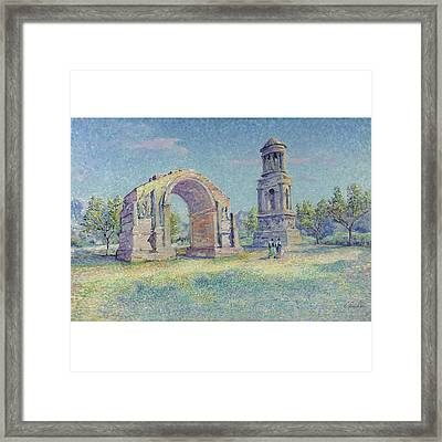 Les Ruines Romaines De Saint Framed Print by MotionAge Designs