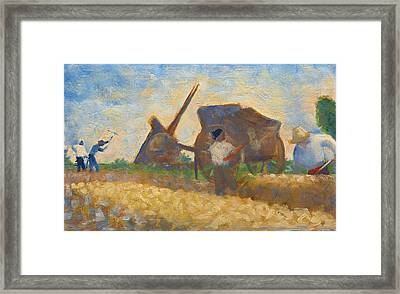 Les Terrassiers Framed Print by Georges-Pierre Seurat