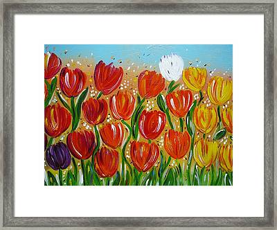 Les Tulipes - The Tulips Framed Print by Gioia Albano