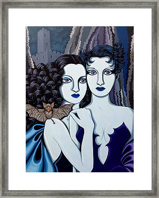 Les Vamperes Bleu Framed Print