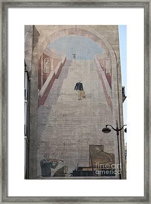 L'escalier By Fabio Rieti Framed Print
