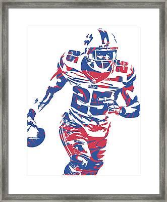 Lesean Mccoy Buffalo Bills Pixel Art 10 Framed Print