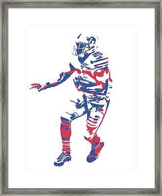 Lesean Mccoy Buffalo Bills Pixel Art 12 Framed Print