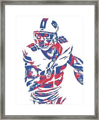 Lesean Mccoy Buffalo Bills Pixel Art 13 Framed Print