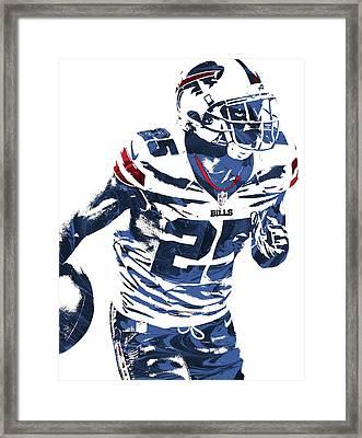 Lesean Mccoy Buffalo Bills Pixel Art 2 Framed Print by Joe Hamilton