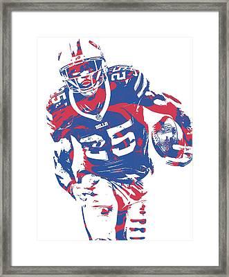 Lesean Mccoy Buffalo Bills Pixel Art 20 Framed Print
