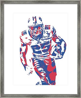 Lesean Mccoy Buffalo Bills Pixel Art 21 Framed Print