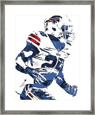 Lesean Mccoy Buffalo Bills Pixel Art 3 Framed Print by Joe Hamilton