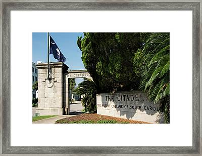 Lesesne Gate Framed Print