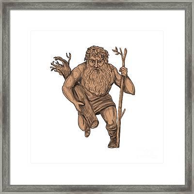 Leshy Tree Runk Staff Tattoo Framed Print by Aloysius Patrimonio