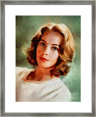 Leslie Caron, Vintage Actress Framed Print