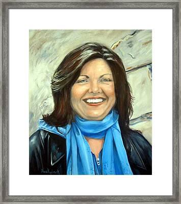 Leslie Eliason Framed Print by Anne Kushnick