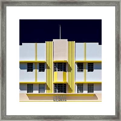 Leslie Hotel Framed Print