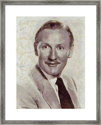 Leslie Phillips, Carry On Actor Framed Print by Sarah Kirk