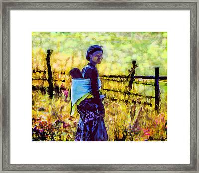 Lesotho Woman Framed Print by Alexandra Jordankova