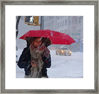 L Esprit De New York - Winter In New York Framed Print
