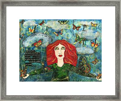 Lessons From A Butterfly Framed Print