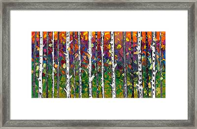 Lessons Of The Birch Framed Print by Jessilyn Park