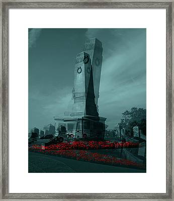 Framed Print featuring the photograph Lest We Forget. by Keith Elliott