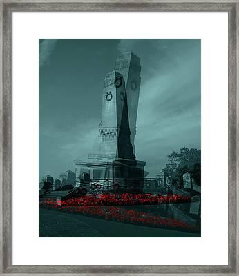 Lest We Forget. Framed Print