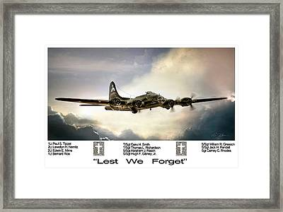 Lest We Forget Framed Print by Peter Chilelli
