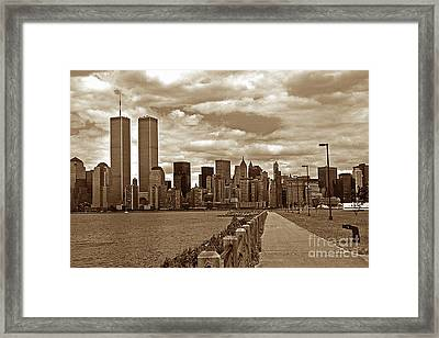 Lest We Forget Sepia Framed Print