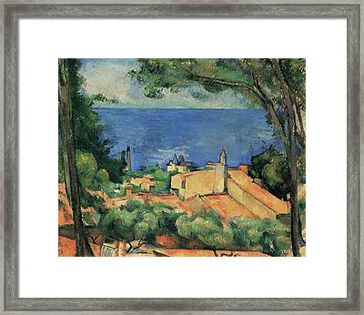 L'estaque With Red Roofs Framed Print