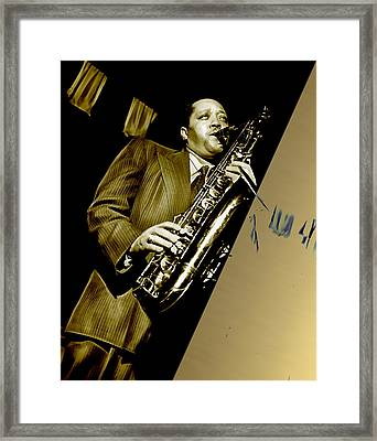 Lester Young Collection Framed Print by Marvin Blaine