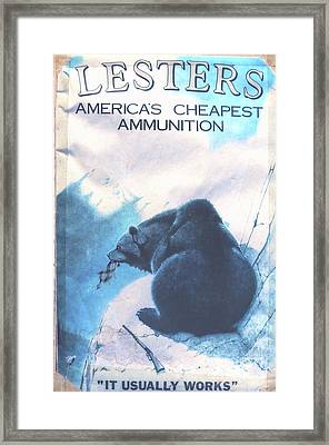 Lesters Ammo Framed Print