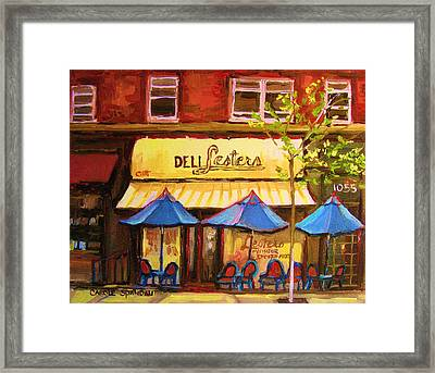 Lesters Cafe Framed Print by Carole Spandau