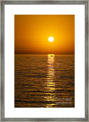 Lesvos Sunset Framed Print by Meirion Matthias