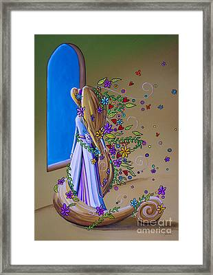 Let Down Your Hair Framed Print by Cindy Thornton