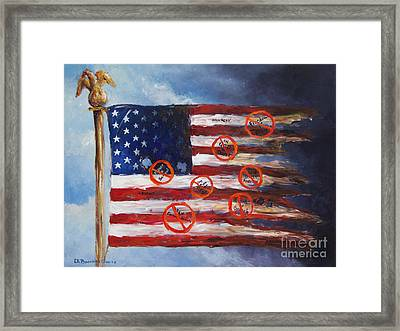 Let Freedom Reign? Framed Print by Deborah Smith